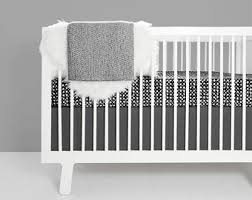 White Crib Set Bedding Modern Crib Bedding Etsy