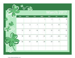 March 2017 calendar template 5 Quotes Wishes
