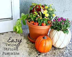 easy fall twine striped pumpkins twine autumn and fall decor