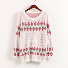 strawberry sweater strawberry mohair pink knit sweater sweetbox store