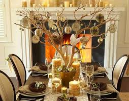 fabulous christmas table centerpiece gold tree branches paper