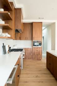 are wood cabinets out of style mid century style cabinetry in the kitchen with walnut