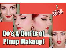 pin up home decor vintage pinup makeup do u0027s u0026 don u0027ts by cherry dollface youtube