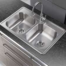 Soleil  X  Stainless Steel Drop In Double Bowl Kitchen Sink - Drop in kitchen sinks