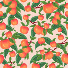 pattern wallpaper peach tree pattern wallpaper download free vector art stock