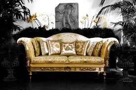 Luxury Sofa Set Versace Home Exhibitor At Salone Del Mobile Salonedelmobile