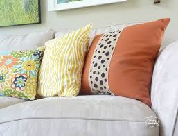 Burlap Home Decor Ideas Two Minute No Sew Burlap Embellished Pillows For Fall The Happy