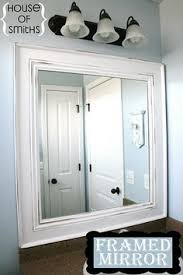 Trim Around Bathroom Mirror How To Frame Out That Builder Basic Bathroom Mirror For 20 Or