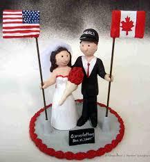 Wedding Flag Flag Wedding Cake Topper