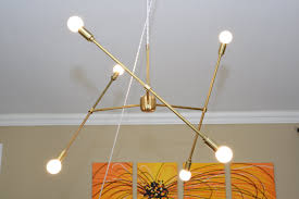 Chandelier Canopy by Free Shipping Large Modern Chandelier Gold Three Arm Sputnik Bulb