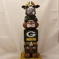 green bay packers tiki totem mascot tiki totem totems and products