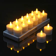 can you use tea light candles without holders of 12 restaurant quality rechargeable tea lights charging base with