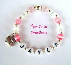 Personalized Kids Jewelry 34 Best Kid U0027s Beads U0026 Bracelets Images On Pinterest Beaded