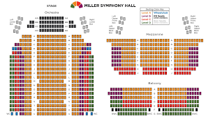 orchestra floor plan seating chart miller symphony hall downtown allentown