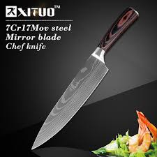 Japanese Kitchen Knives Xituo 8 Inch Japanese Kitchen Knives Imitation Damascus Pattern