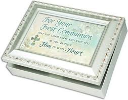 communion jewelry box communion cottage garden chagne silver finish with