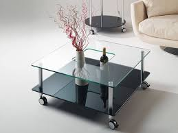 Square Glass Coffee Table by Table Overwhelming Glass Coffee Table Ottomans Underneath In