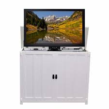 touchstone 72013 elevate white mission style tv lift cabinet for