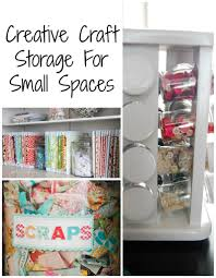 Storage For Furniture Craft Supply Storage For Small Spaces Frazzled Joy