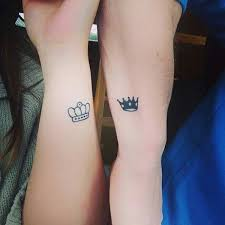 tattoo of queen and king king and queen tattoos for lovers that kick ass