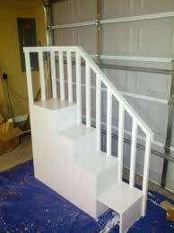 Steps For Bunk Bed White Classic Bunk Bed With Sweet Pea Stairs Diy Projects