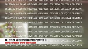 8 letter words that start with o youtube