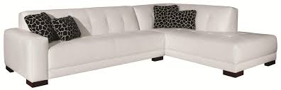 Broyhill Sectional Sofa by Eye Catching White Vinyl L Shaped Tufted Sectional With Black Legs