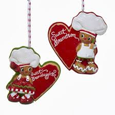gingerbread chef sweet grandson granddaughter ornaments for