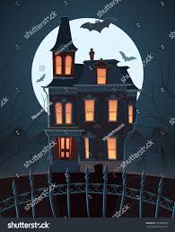 scary house clipart scary house on moonlight stock vector 575965078 shutterstock