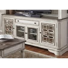 liberty furniture magnolia manor entertainment tv stand with glass