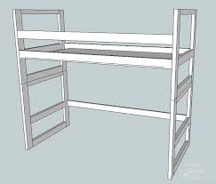 How To Make A Loft Bed With Desk Underneath by How To Turn A Bunk Bed Into A Loft Bed