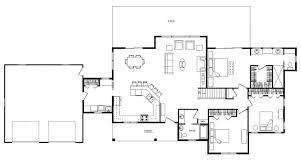 single floor plans with open floor plan floor plan 1440 sqft wing shaped single level log home rancher