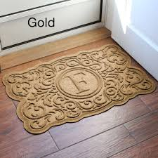 monogrammed home decor home decor marvelous entry door mats and mckinley waterguard