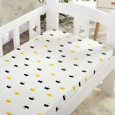 Crib Mattress Fitted Sheet 130 70cm Baby Cotton Fitted Sheet Baby Bed Cover Bedding