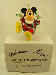 mickey w lights disney christmas magic collectible ornament