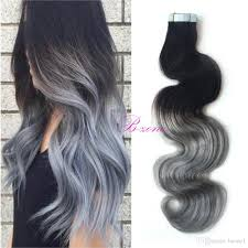 weft hair extensions ombre grey pu skin weft hair extension india premium pu in