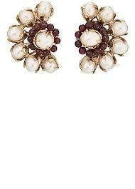 earrings clip on goossens baroque pearl clip on earrings barneys new york