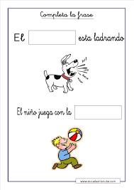 imagenes para colorear y escribir oraciones ejercicios de lengua para infantil completa y ordena las frases
