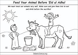 feed your animal well before u0027eid ul adha coloring page