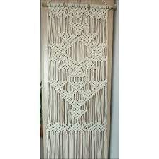 Macrame Home Decor by Macrame Wall Hanging Wedding Decor Macrame Curtain Large