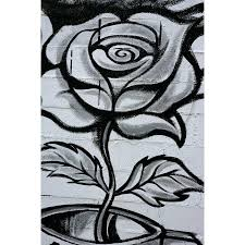 black and white graffiti rose wall mural majestic wall art black and white graffiti rose wall mural