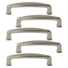 kitchen cabinet door handles walmart 5 pack of brushed satin nickel cabinet hardware square modern pull door handles