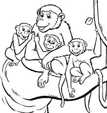 monkey family coloring page monkey family coloring page jpg