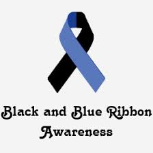 black and blue ribbon black ribbon mourning ribbon t shirts shirt designs zazzle