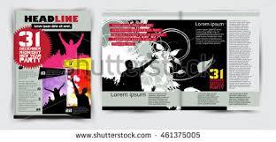 magazine layout graphic design magazine layout design vector stock vector 461375005 shutterstock