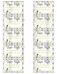 printable diaper raffle ticket baby shower party printables