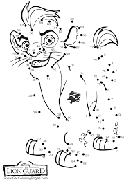 dot coloring pages the lion guard coloring pages getcoloringpages com