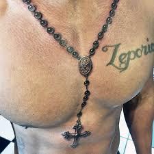 mens rosary 100 rosary tattoos for men sacred prayer ink designs