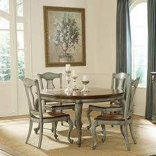 pulaski dining room furniture pulaski jolie round wood top dining table in hand painted aged