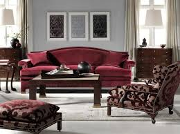 Maroon Leather Sofa Maroon And Gray Living Room Decorating Ideas Burgundy Leather Sofa